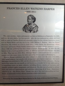 A plaque about an african american poet