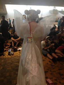 Back view of Neo Queen Serenity. Her fairy wings are pretty!