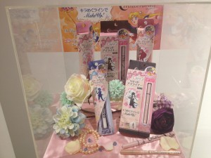 a display of the sailor moon eyeliner