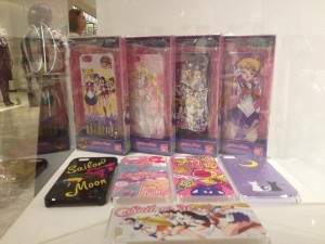 a display of the sailor moon smartphone cases