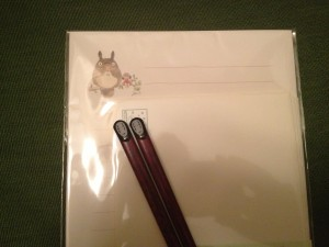 totoro stationary and no face chopsticks