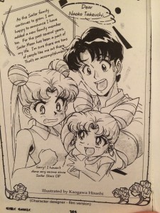 Note from Kaogawa Hisashi with Usagi, Mamoru and Chibiusa