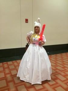 Princess Fiona holds her sword