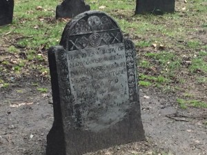 The gravestone of Mary Goose