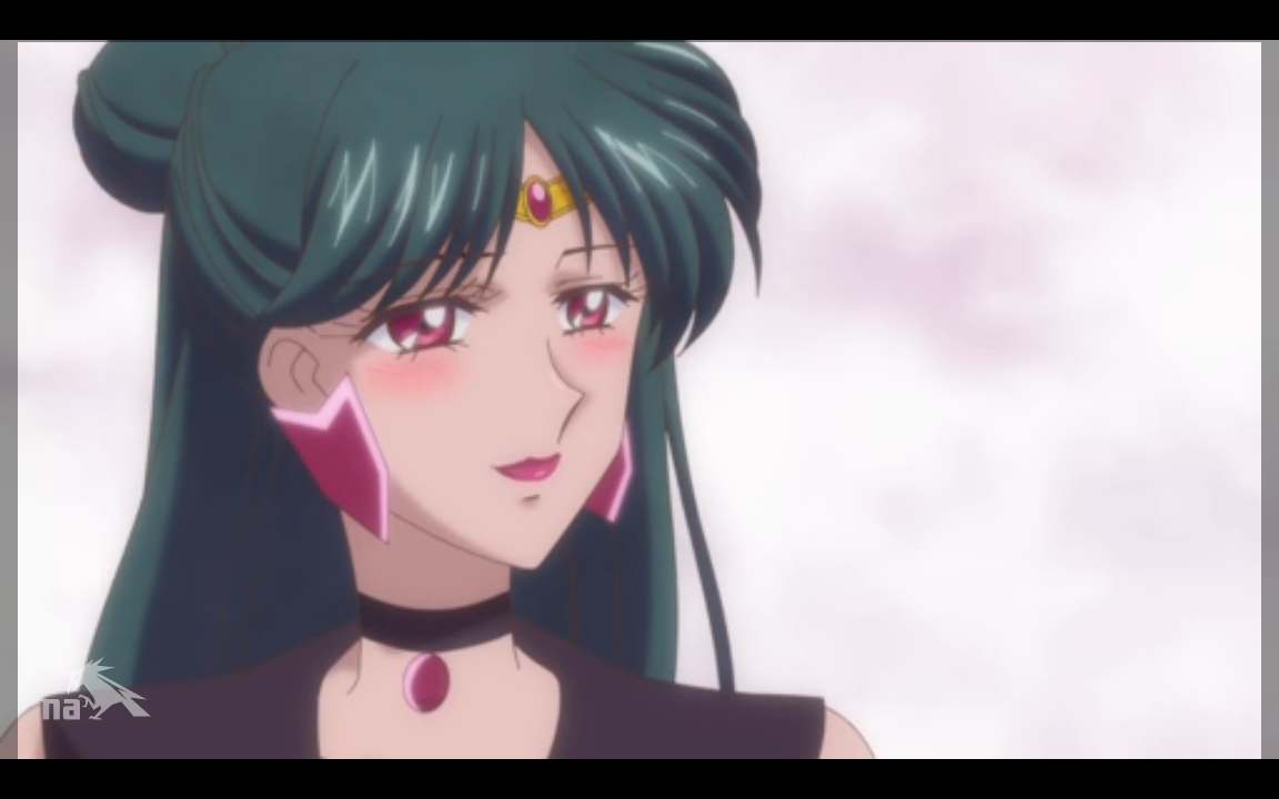 Sailor Pluto blushes.