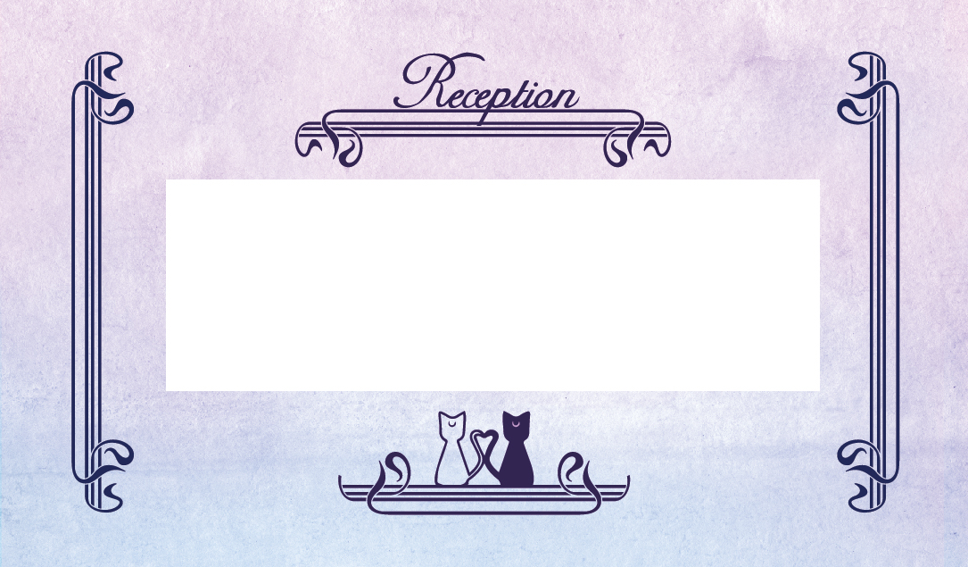 the reception address card with luna and artemis