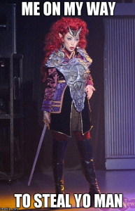 Queen Beryl wears battle armor