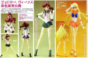 Various poses for the Sailor Jupiter and Sailor Venus S.H. Figuarts