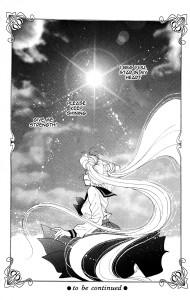 School girl Usagi dressed in her high school uniform looks up at the sun.