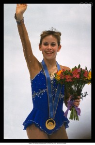 15 year old Tara Lipinski becomes the youngest individual gold medalist.