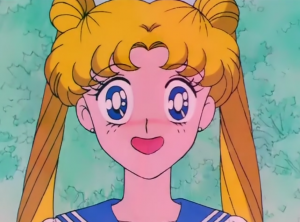 Usagi looks unsure, perplexed--maybe a bit embarrassed